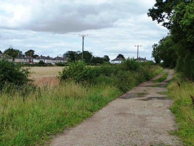 Bog Lane, heading to the Leeds Road, Scholes