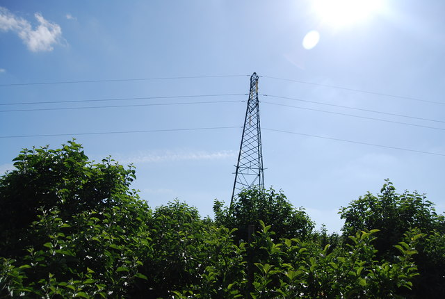 Pylon in the orchard