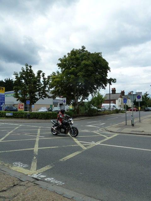 Motorcyclist in Bishopstoke Road