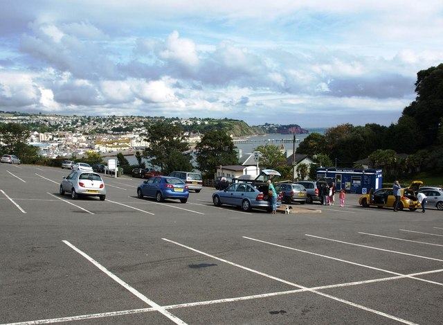 Car park at The Ness, looking towards Teignmouth