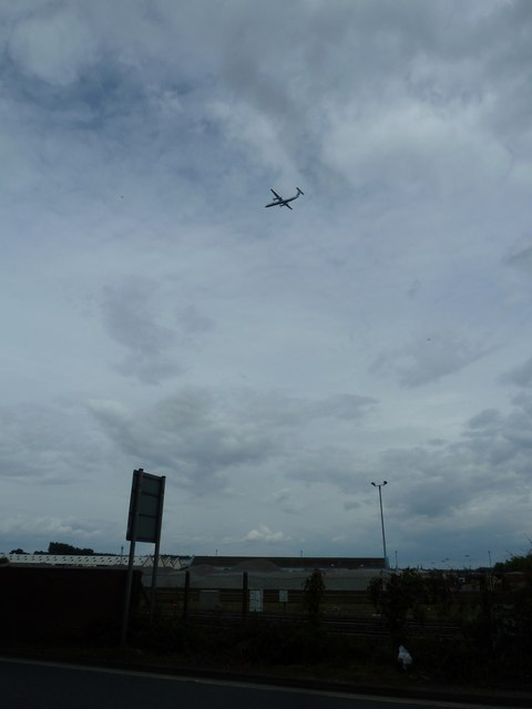 Aeroplane above Eastleigh