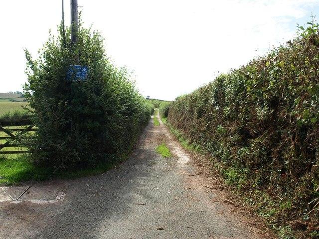 Where Ridge Road becomes a track