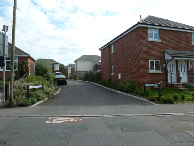 Looking from Water Lane into Wickham Court
