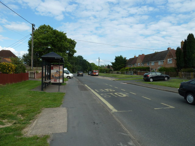 Bus stop near Montgomery Avenue