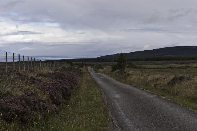 Hill Road from Edderton