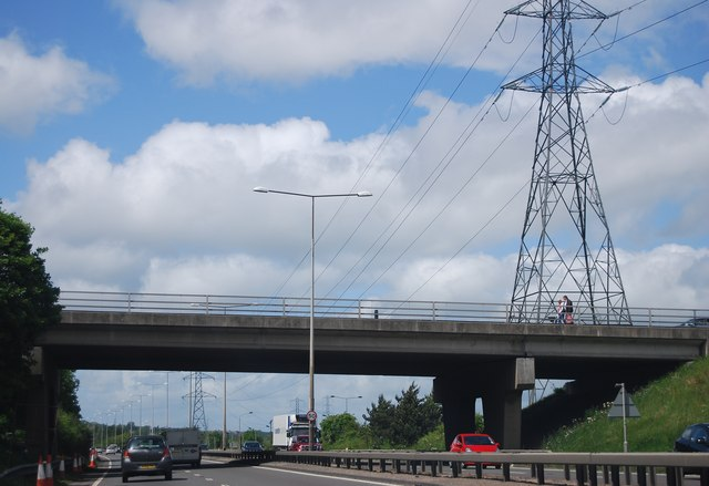 A1 overbridge by the Metrocentre