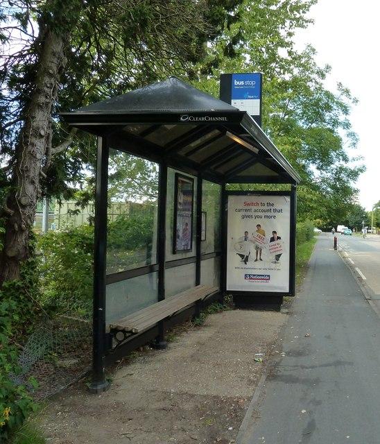 Bus shelter in Water Lane