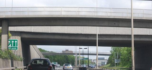 Overbridges, A1 / A69 junction