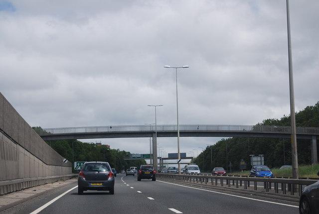 Footbridge over the A1, Denton Burn
