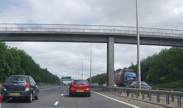 Footbridge over the A1, East Denton