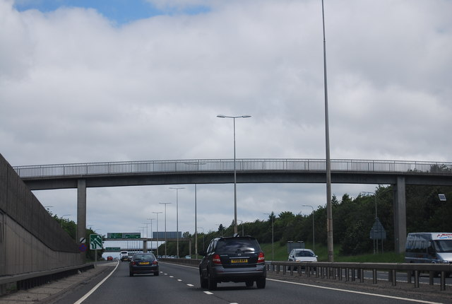 Footbridge over the A1, Blakelaw