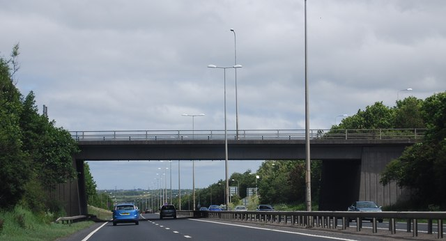 Overbridge, A1 / A696 / A167 junction