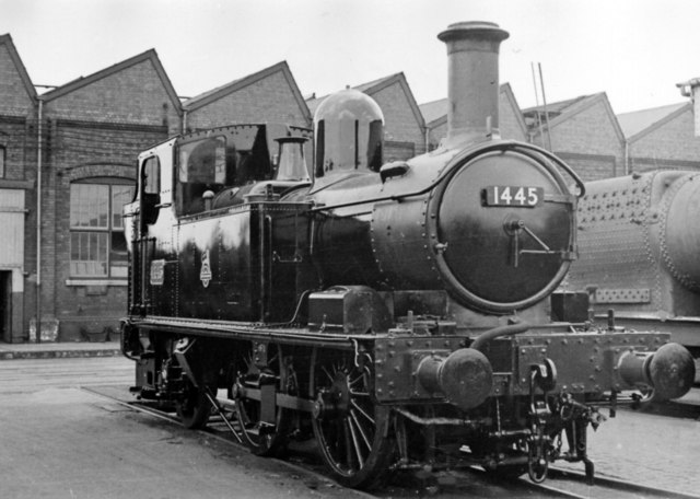 Swindon Works: a '1400' class 0-4-2T freshly repaired