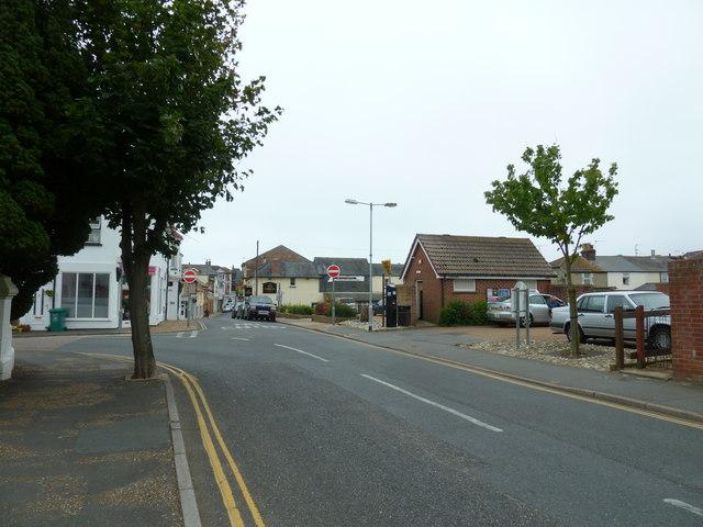 Approaching a bend in St John's Road