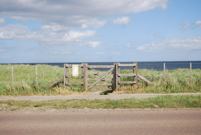 Gate to the beach, Beadnell