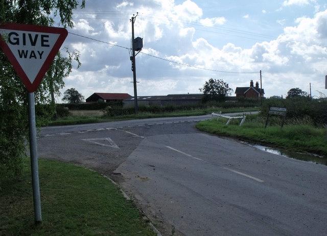 Junction of Langrick road and Reedham lane