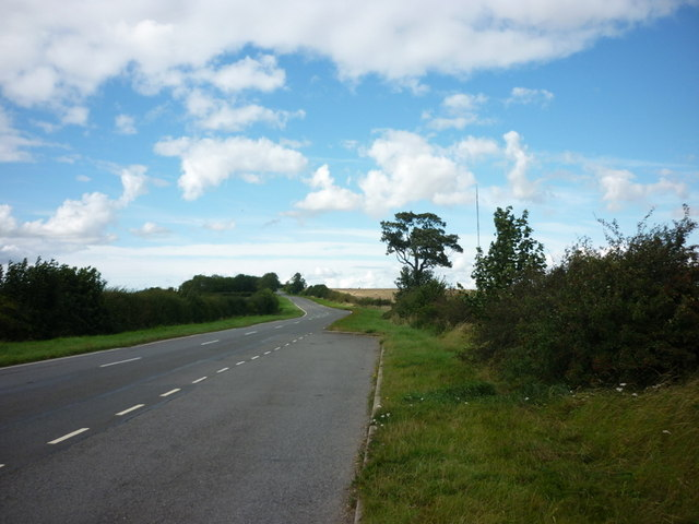 Looking north along the B1225, High Street