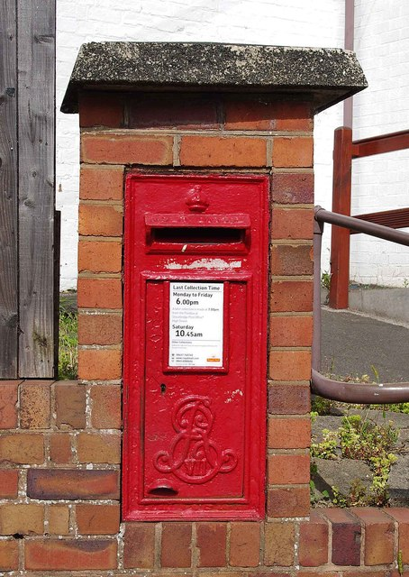Edward VII wall-mounted postbox outside 4 White Hill, Kinver