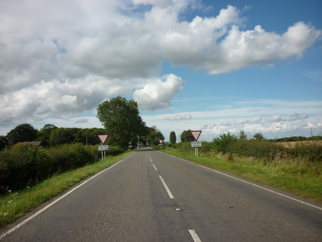 Approaching the A157, on the B1225, High Street