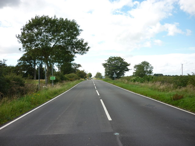 Approaching the A631, on the B1225, High Street