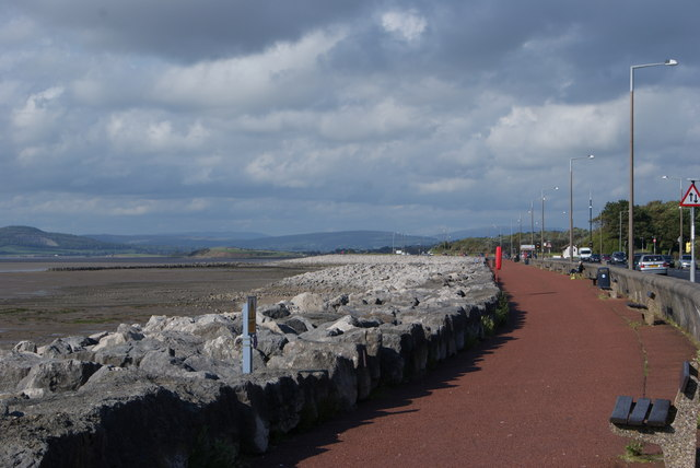 Morecambe Seafront looking North East from Princes Crescent