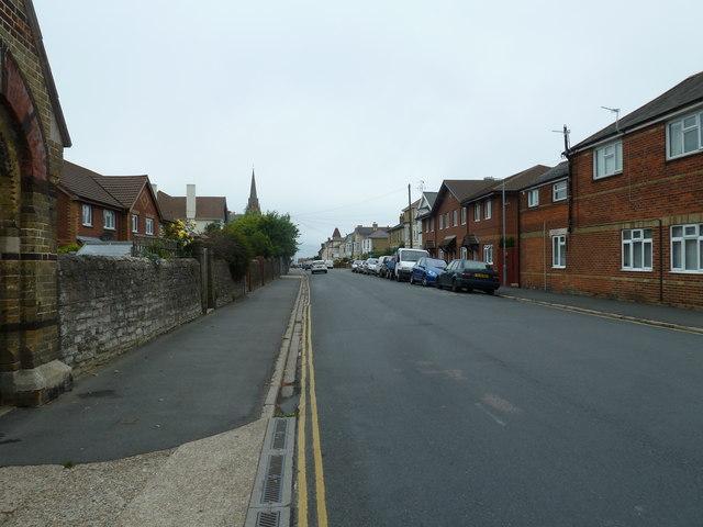 Looking along West Street towards All Saints