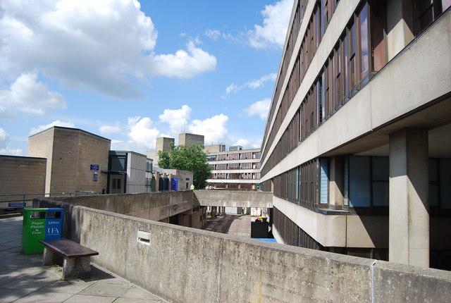 UEA - teaching wall walkway