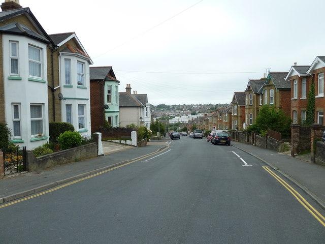 Looking down Well Street towards Prince Street
