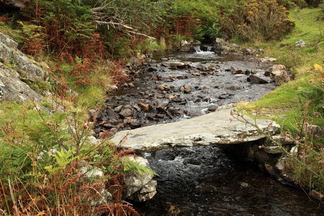 Clapper bridge over Green Moor Beck