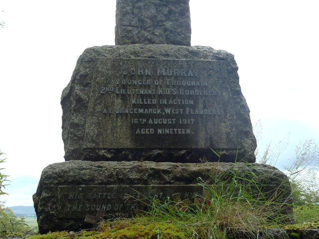 Inscription detail on John Murray's Monument