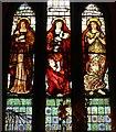 NM8603 : Faith, Hope & Charity window, Ford Kirk by Bob Embleton