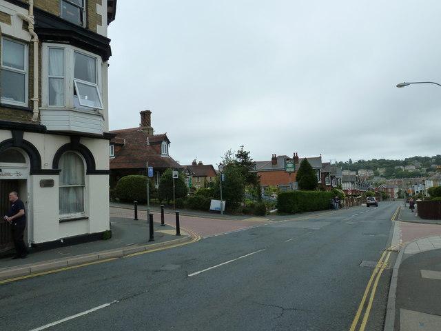 Crossroads of St John's Road, Albert Street and Player Street