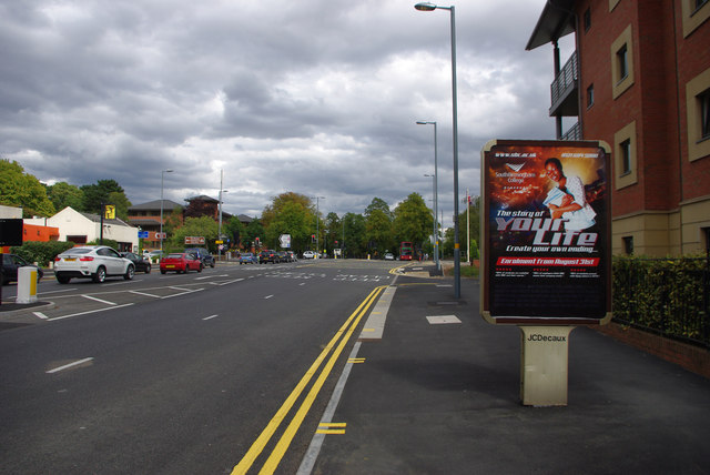 Bristol Road, Bournbrook, near the Gun Barrels and Bournbrook Fire Station