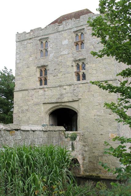 Michelham Priory: Barbican Tower & bridge over moat