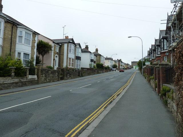 Looking westwards in  St John's Road
