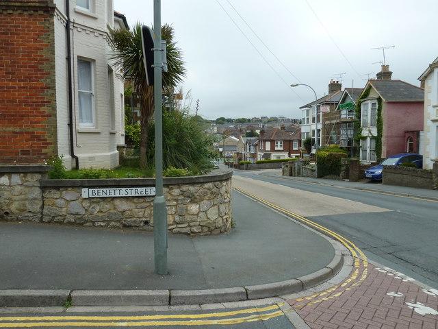 Junction of  St John's Road and Benett Street
