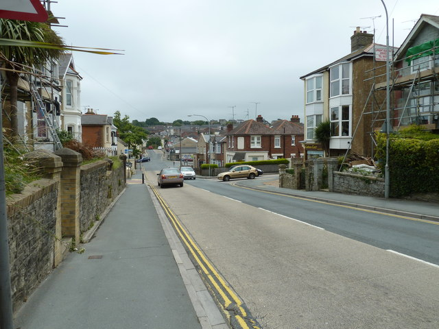 Approaching the bottom of St John's Road