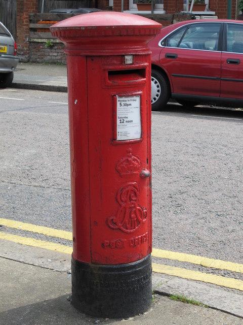 Edward VII postbox, Temple Road / Newton Road, NW2