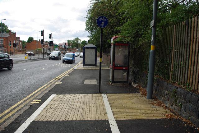 Shared use path on Bristol Road, Bournbrook