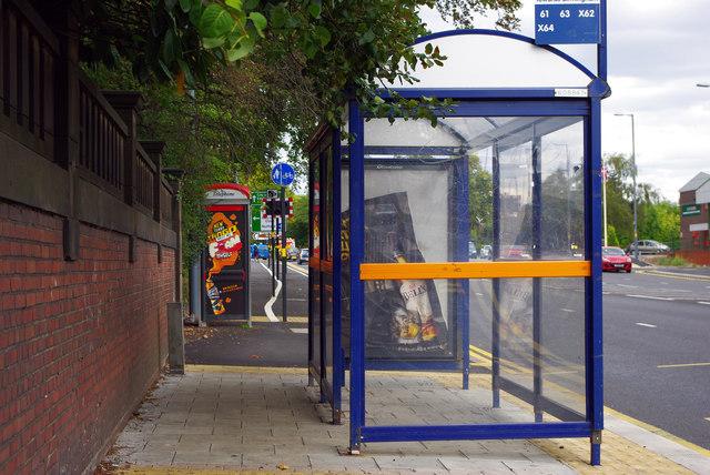 Bus shelter on Bristol Road, Bournbrook