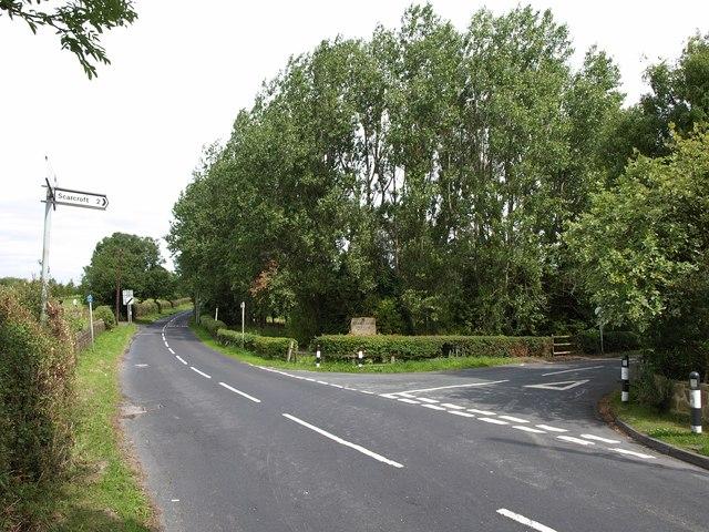 Junction on Backstone Gill Lane