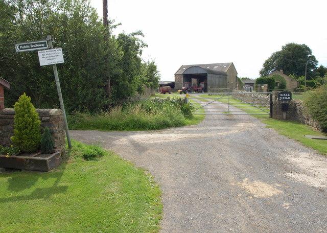 Bridleway, Hall Farm