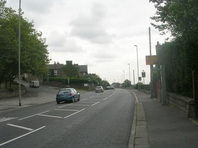 Leeds Road - viewed from Rawdon Drive