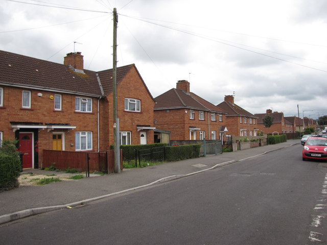 1930s council housing, Newquay road, Knowle West, Bristol
