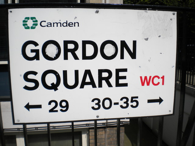 Street sign, Gordon Square WC1