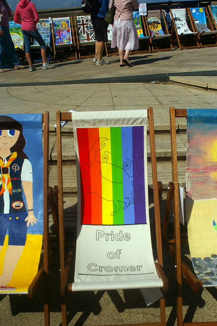 Decorated deck chair, Cromer