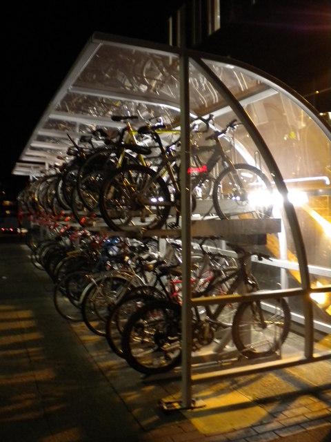 Bicycle rack, Euston Station, Eversholt Street NW1