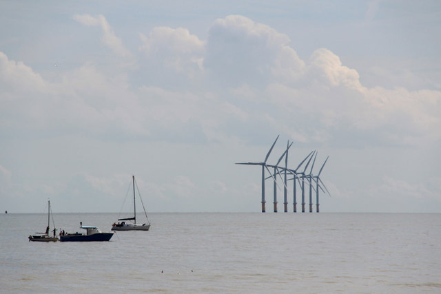 Boats and Wind Turbines, Clacton, Essex