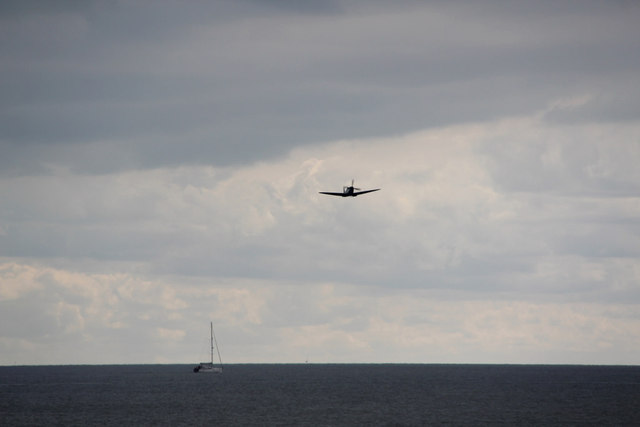 Spitfire over the Sea, Clacton, Essex