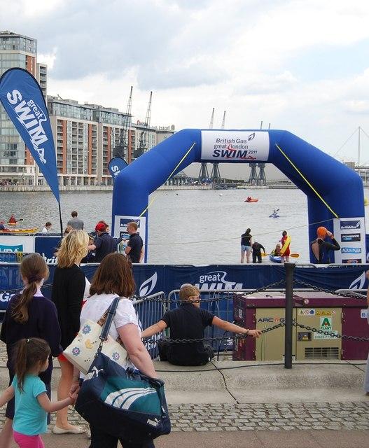 British Gas Swim starting area